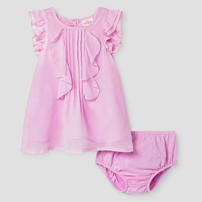 Baby Girls' Chiffon Dress - Cat & Jack™ Purple 6-9 Months