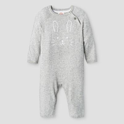 Baby Girls' Sweater Romper - Cat & Jack™ Gray NB