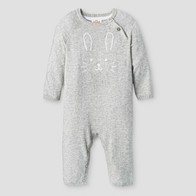 Baby Girls' Sweater Romper - Cat & Jack™ Gray 0-3 Months