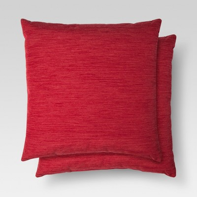 2pk Red Throw Pillow (18 x18 )- Threshold™
