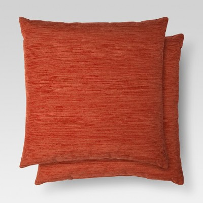 2pk Orange Throw Pillow 18 x18  - Threshold™