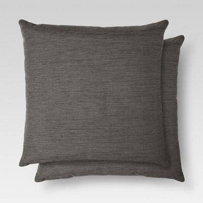 2pk Gray Throw Pillow 18 X18  - Threshold™