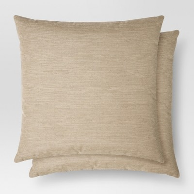 2pk Brown Throw Pillow (18 x18 )- Threshold™