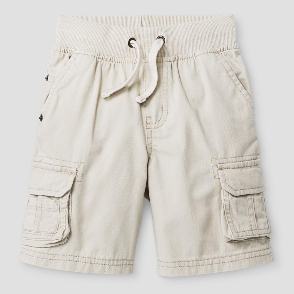 Toddler Boys Cargo Shorts - Cat & Jack Khaki, Size: 2T, White