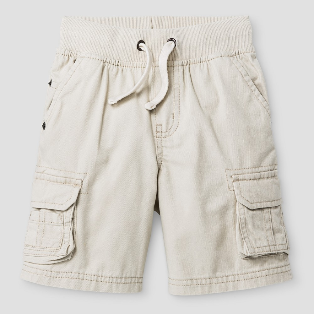 Baby Boys Cargo Shorts Cat & Jack Oyster 12 M, White