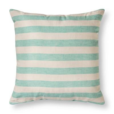 Turquoise Stripe Euro Throw Pillow (26 x26 )- Threshold™