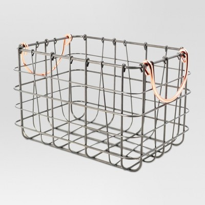 Wire Basket Antique Pewter - Threshold™