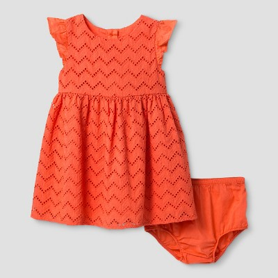 Baby Girls' A Line Dress Cat & Jack™ - Hawaiian Coral 12 M