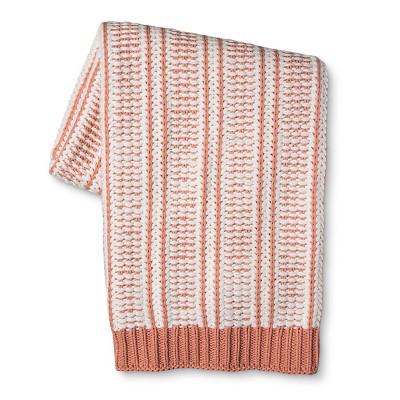 Honey Peach Crochet Knit Throw Blanket 50 X60  - Threshold™