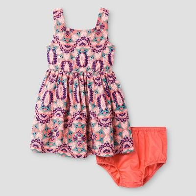 Baby Girls' A Line Dress Genuine Kids™ from OshKosh® Shell Pink 12M