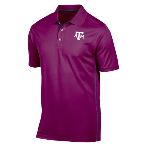 NCAA Texas A&m Aggies Men's Tech Polo Shirt - L, Multicolored