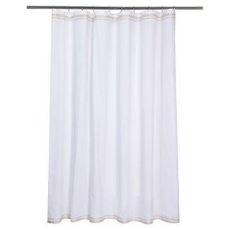 beige and white shower curtain. Ribbon Border Shower Curtain White Beige  72 x72 Curtains Bath Liners Target