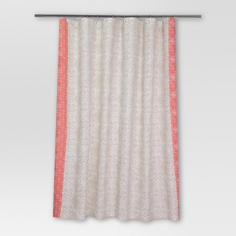 "Rotary Print Shower Curtain (72""x72"") Coral - Threshold™ - image 1 of 1"