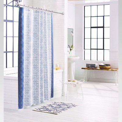 Rotary Print Shower Curtain (72 x72 )Blue - Threshold™