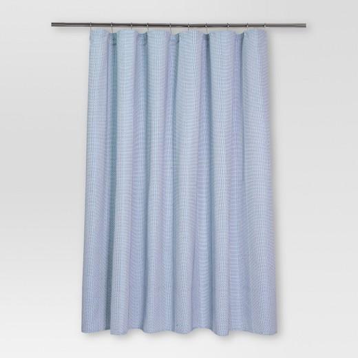 Pattern Stripe Shower Curtain 72 X72 White Blue Threshold Target