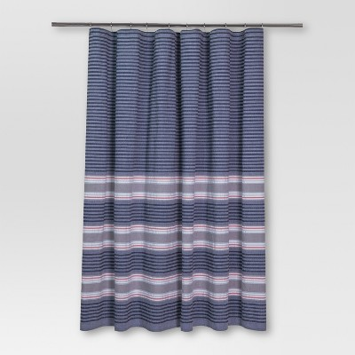 Seersucker Stripe Shower Curtain (72 x72 )Blue - Threshold™
