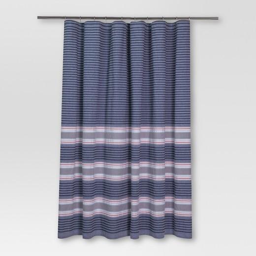 Seersucker Stripe Shower Curtain 72 X72 Blue Threshold Target