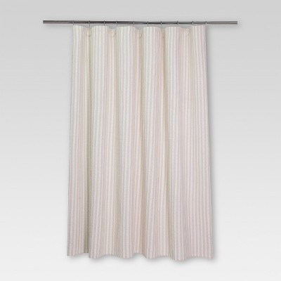 Woven Stripe Shower Curtain (72 x72 )White/Tan - Threshold™