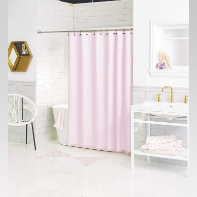 Fray Shower Curtain (72 x72 )Pink Cream - Threshold™