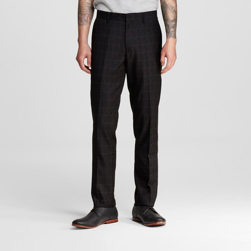 Men's Suit Pants Black 38X32 – WD-NY Black