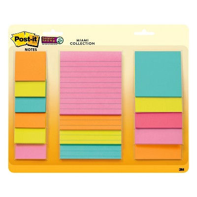 Post-it® Super Sticky Notes, 3  x 3 , 15ct - Multicolor