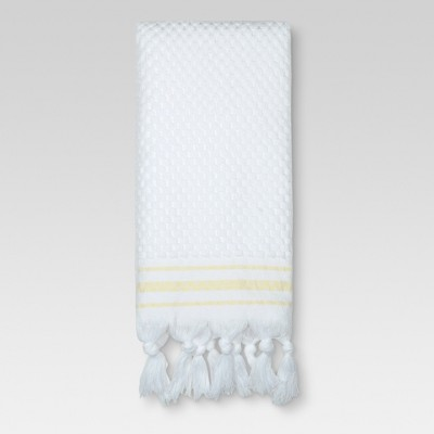 Hand Towel Oscar Border - White/Yellow - (16 x27 )- Threshold™