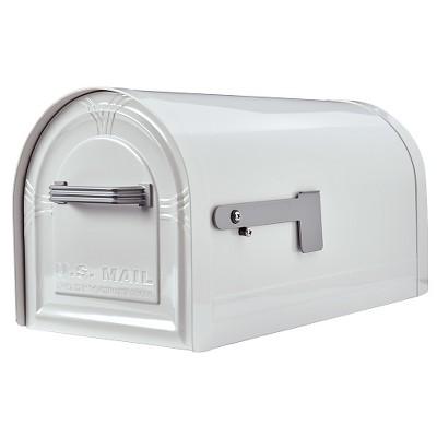 Gibraltar Wyngate Locking Large-Size Post-Mount mailbox - White
