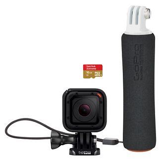 GoPro Hero Session Bundle (Includes Handler Floating Grip and 16GB MicroSD Card)