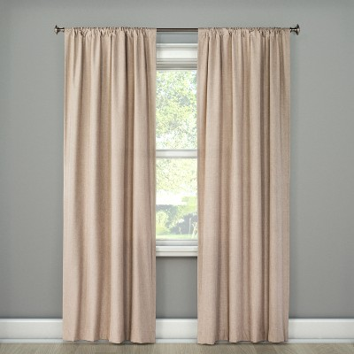 Lightblocking Curtain Panel Tan (42 x63 )- Room Essentials™
