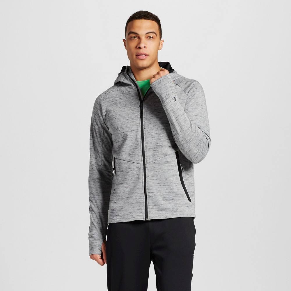 Mens Victory Fleece Full Zip Hoodie - C9 Champion Stone Heather S
