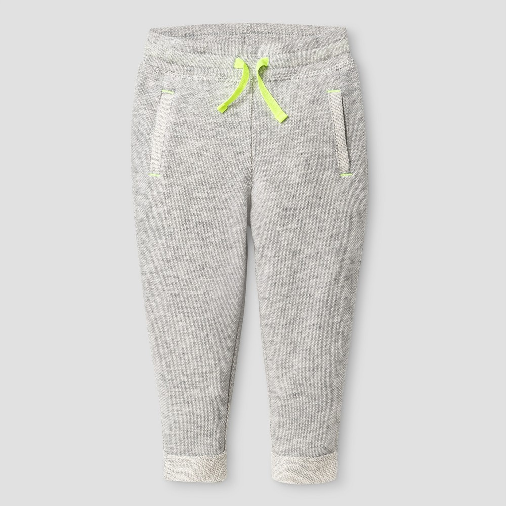 Baby Girls Jogger Pants Cat & Jack - Heather Gray 18 M