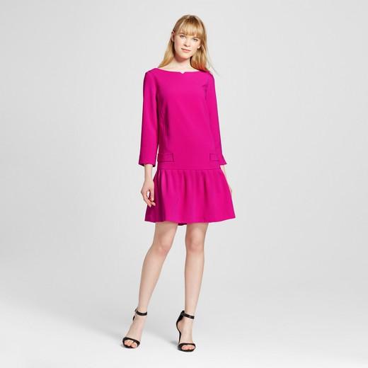 Women's Fuchsia Jacquard Drop Waist Dress - Victoria Beckham for ...