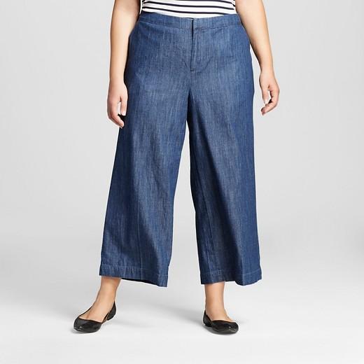 Women's Plus Size Wide Leg Crop - Merona™ : Target