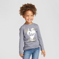 Toddler Girls' T-Shirt Flat Gray - Cat & Jack. opens in a new tab.