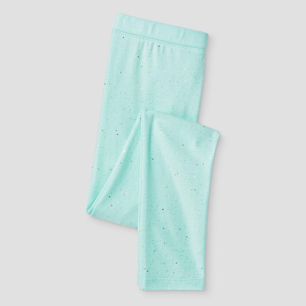 Girls Sparkle Favorite Leggings - Cat & Jack Mint (Green) Xxl