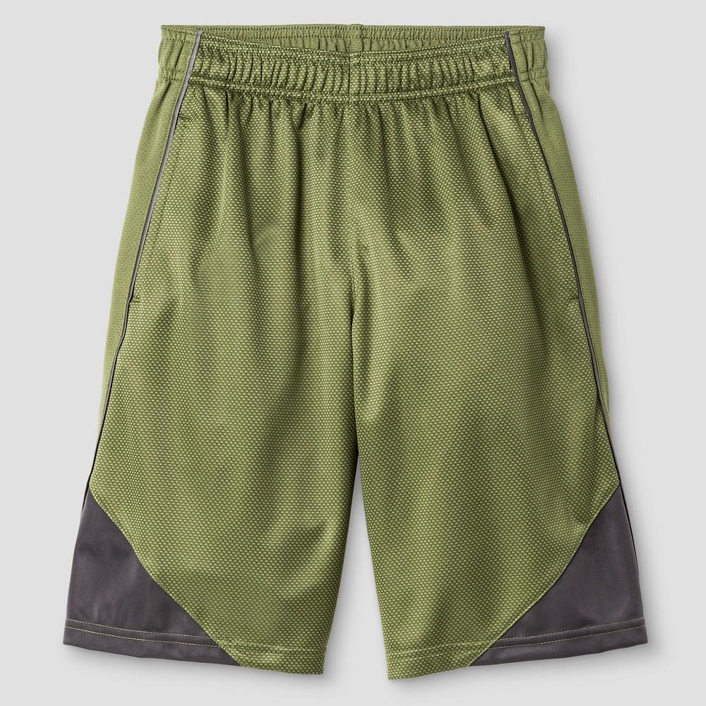 Boys Core Basketball Shorts - C9 Champion Vineyard Green XS, Railroad Gray