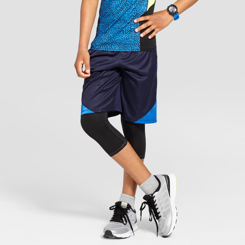 Boys' Core Basketball Shorts - C9 Champion Navy S, Xavier Navy