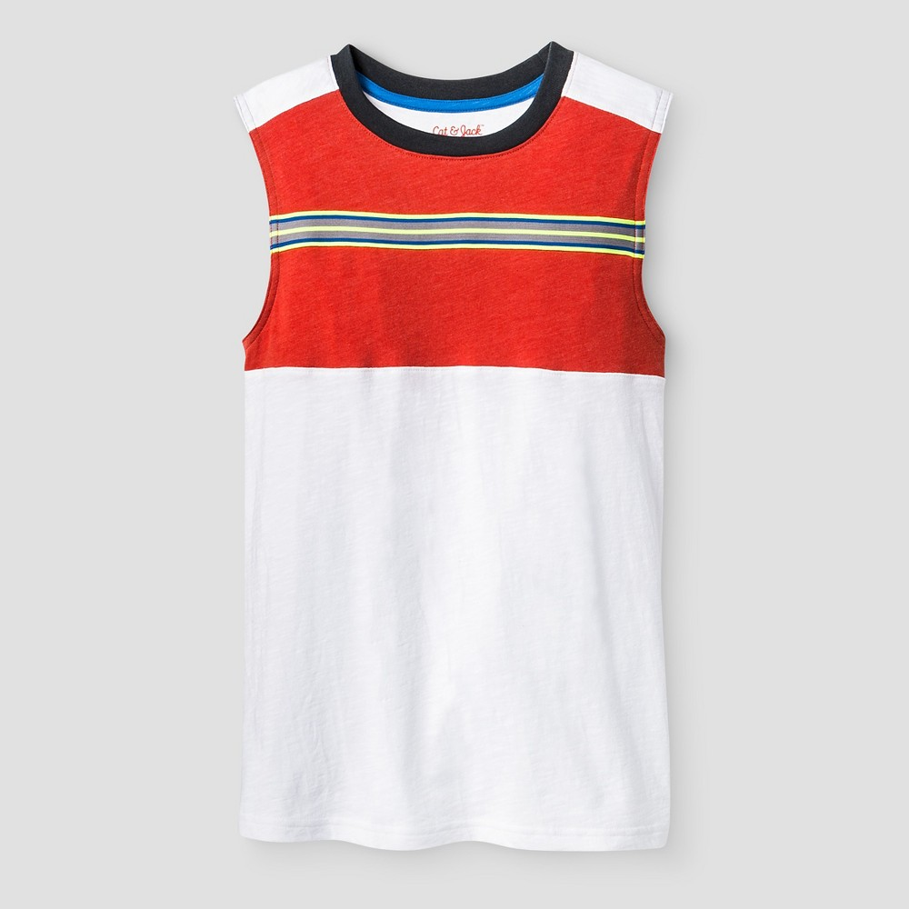 Boys' Muscle Activewear Tank Top - Cat & Jack White XL
