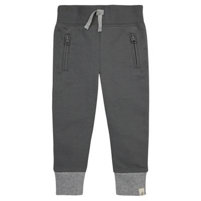 Burt's Bees Baby® Boys' Organic French Terry Zip Pocket Pant - Gray 12M