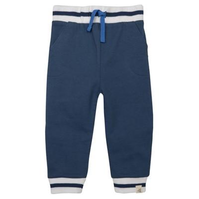 Burt's Bees Baby® Boys' Organic French Terry Stripe Cuff Pant - Blue 0-3M
