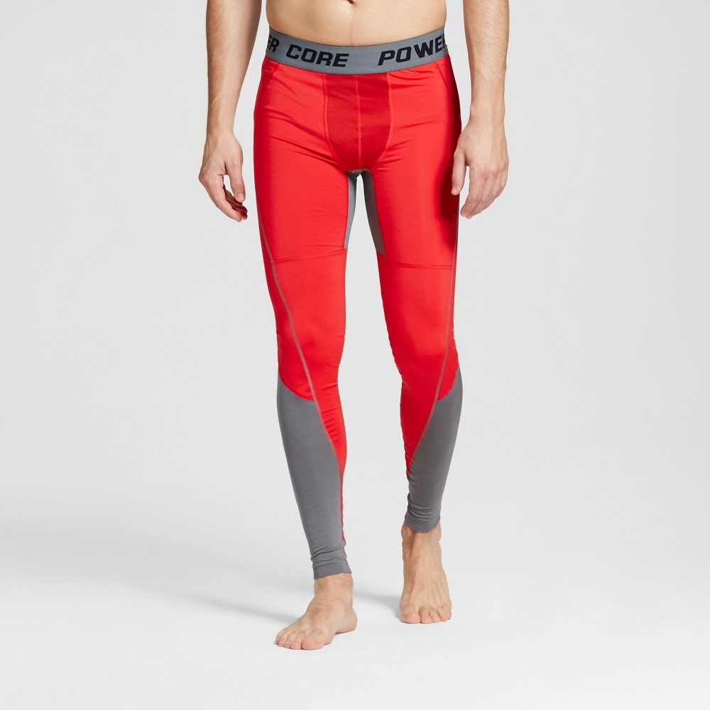 Mens Premium Power Core Compression Tights - C9 Champion Scarlet (Red) XL