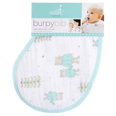 Aden + Anais Burpy Bib Neutral Teddy Bears