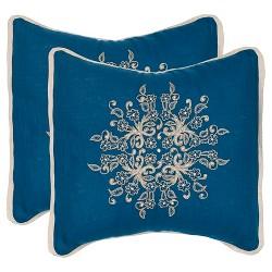 Blue Set Orat Throw Pillow - Safavieh®
