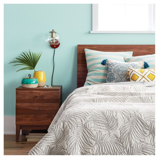 cream palm stitch quilt - threshold™ : target