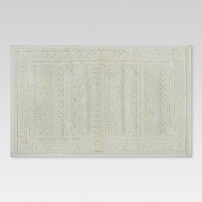 Arrows Bath Mat Cream - (20 x34 )- Threshold™