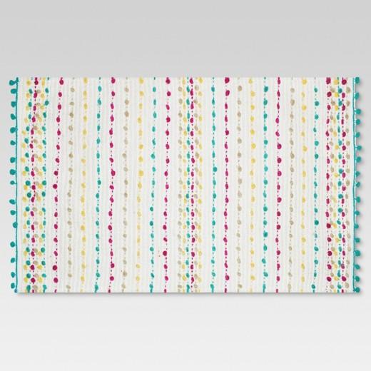 "dotted stripe bath rug (20""x34"") sun eclipse - threshold™ : target"