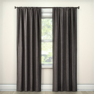 Lightblocking Curtain Panel Charcoal (42 x63 )- Room Essentials™