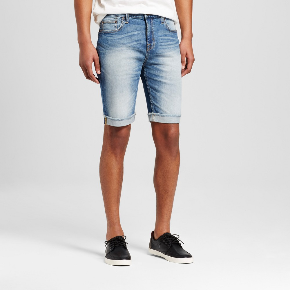 Men's Jean Shorts - Mossimo Supply Co. Medium Wash 30, Blue