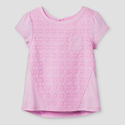 Toddler Girls' T-Shirt - Cat & Jack™ Peppermint Stick 12 M