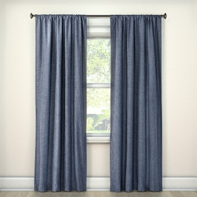 Lightblocking Curtain Panel Navy (42 x84 )- Room Essentials™